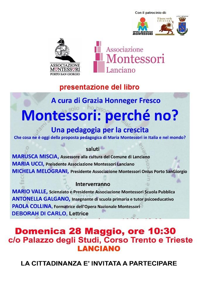 Presentazione del libro Montessori perchè no LANCIANO